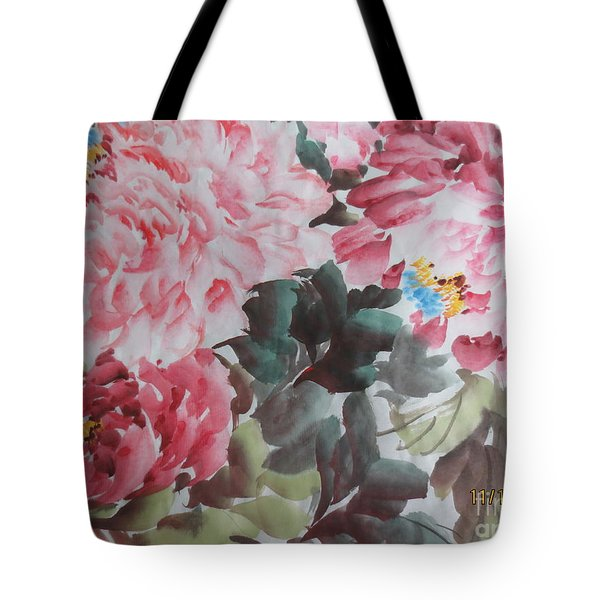 Tote Bag featuring the painting Hp11192015-0758 by Dongling Sun