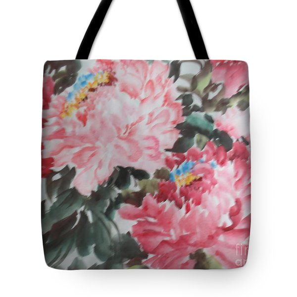 Tote Bag featuring the painting Hp11192015-0759 by Dongling Sun