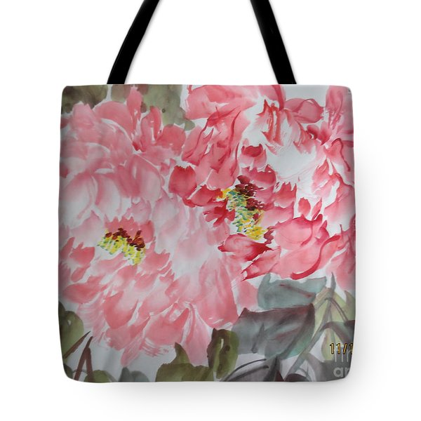 Tote Bag featuring the painting Hp11192015-0761 by Dongling Sun