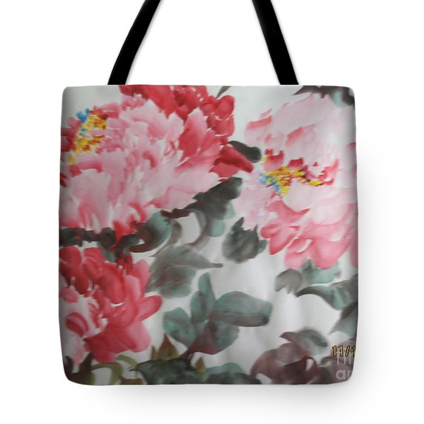 Tote Bag featuring the painting Hp11192015-0762 by Dongling Sun