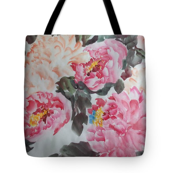 Tote Bag featuring the painting Hp11192015-0767 by Dongling Sun