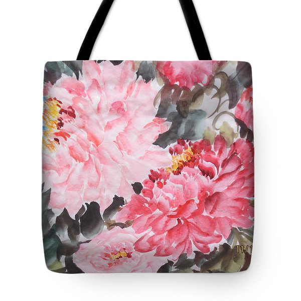 Tote Bag featuring the painting Hp11192015-0768 by Dongling Sun