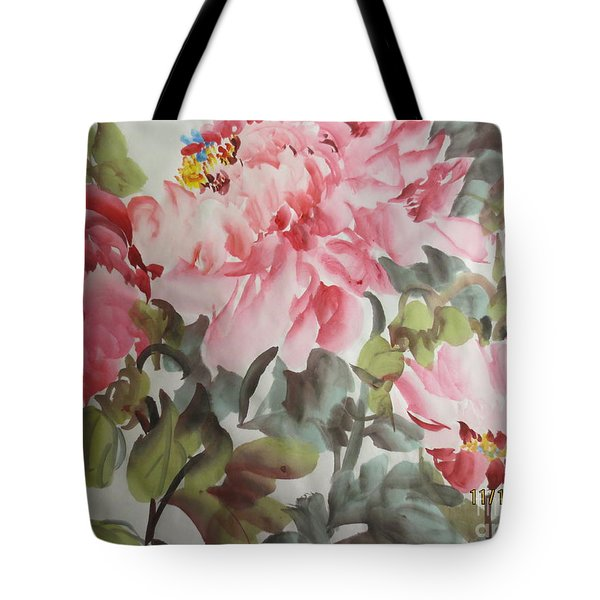 Tote Bag featuring the painting Hp11192015-0769 by Dongling Sun