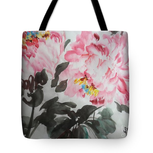 Tote Bag featuring the painting Hp11192015-0770 by Dongling Sun