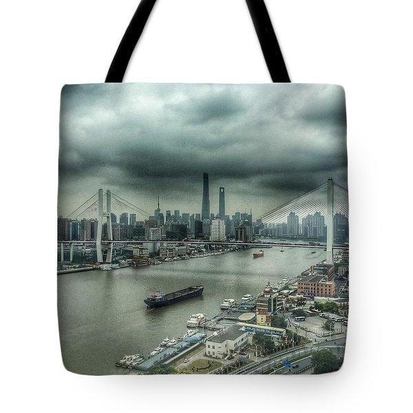 Huang Pu River Shanghai Tote Bag