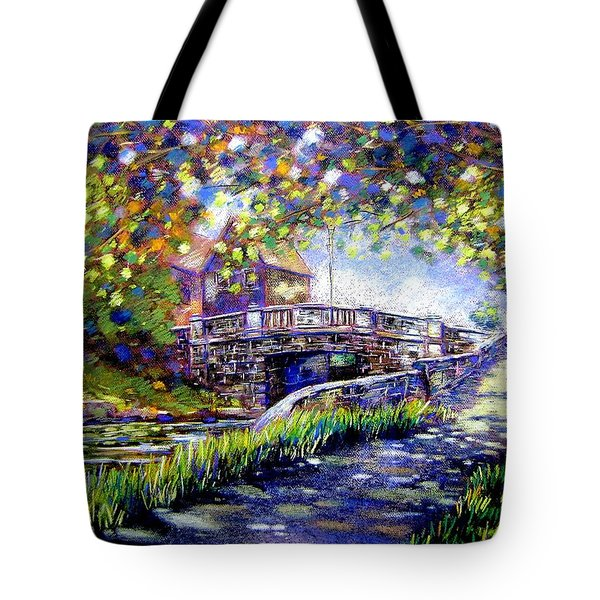 Huband Bridge Dublin City Tote Bag by John  Nolan