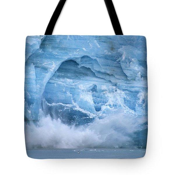 Hubbard Glacier Calving Chunks Of Ice Tote Bag