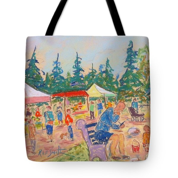Hubbard's Farm Market Tote Bag by Rae  Smith