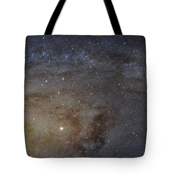 Tote Bag featuring the photograph Hubble's High-definition Panoramic View Of The Andromeda Galaxy by Adam Romanowicz