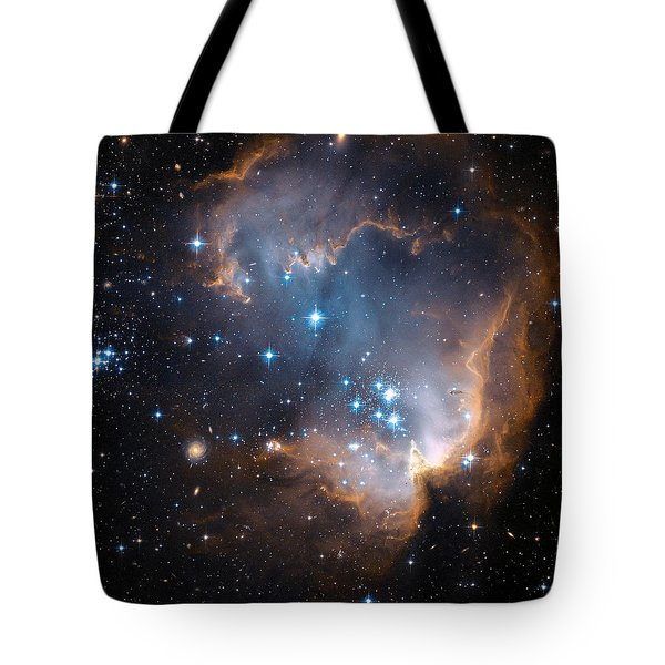 Hubble's View Of N90 Star-forming Region Tote Bag
