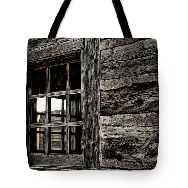 Tote Bag featuring the photograph Hudson Bay Fort Window by Brad Allen Fine Art