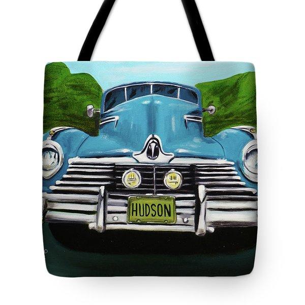 Hudson Blue Tote Bag