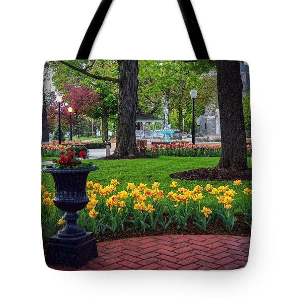 Hudson Falls...a Great Place To Call Home Tote Bag