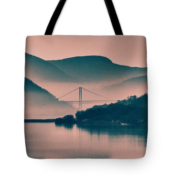Hudson Highlands Fog Tote Bag