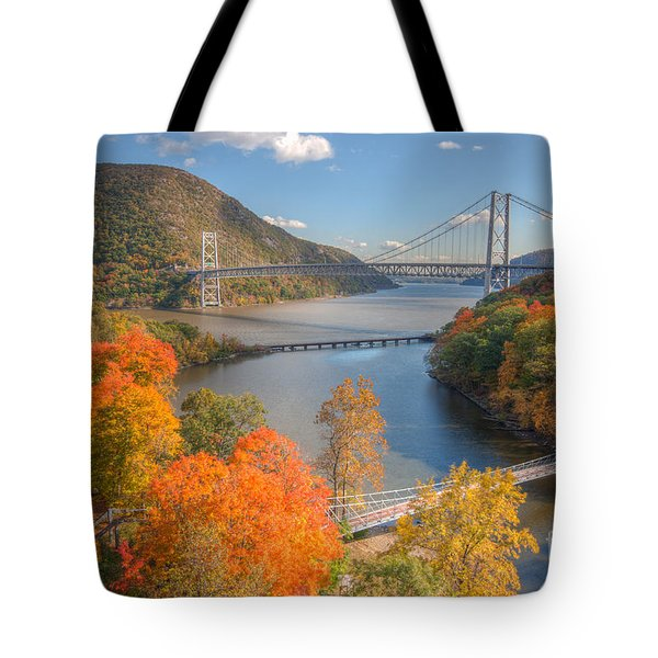 Hudson River And Bridges Tote Bag