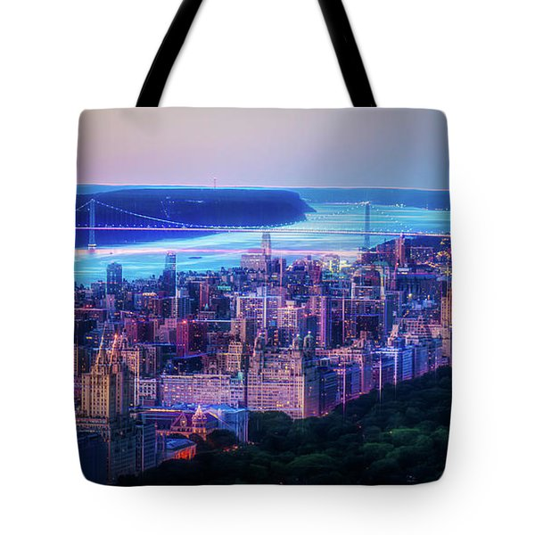 Tote Bag featuring the photograph Hudson River Sunset by Theodore Jones