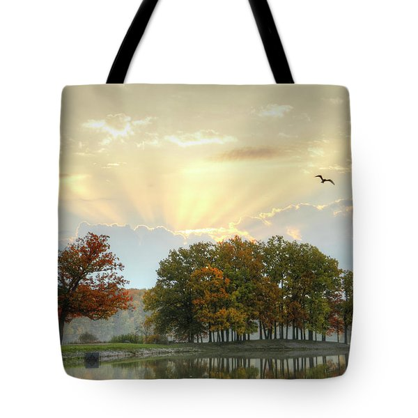 Tote Bag featuring the photograph Hudson Springs Morning by Ann Bridges