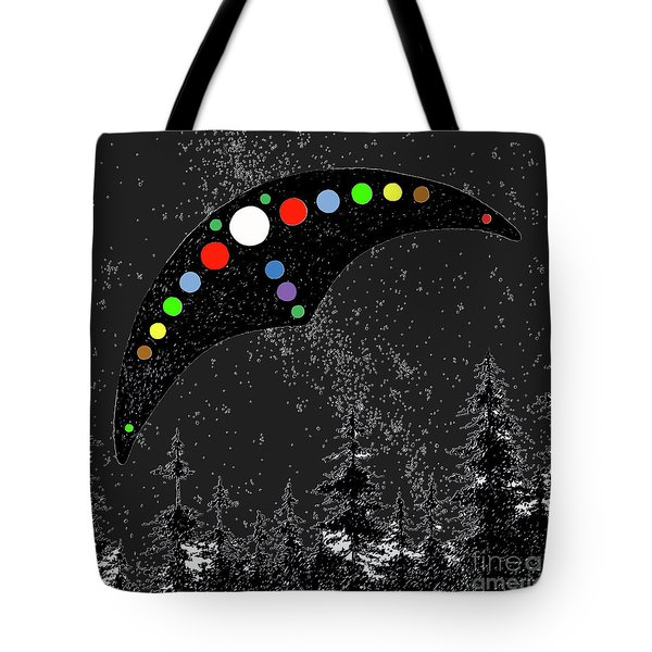 Tote Bag featuring the painting Hudson Valley Ufo by James Williamson