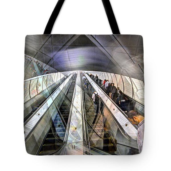 Hudson Yards Escalator Collage Tote Bag