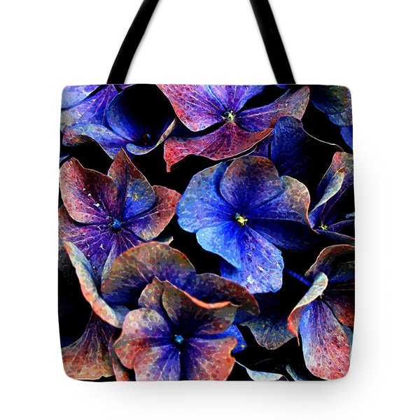 Tote Bag featuring the digital art Hues by Julian Perry