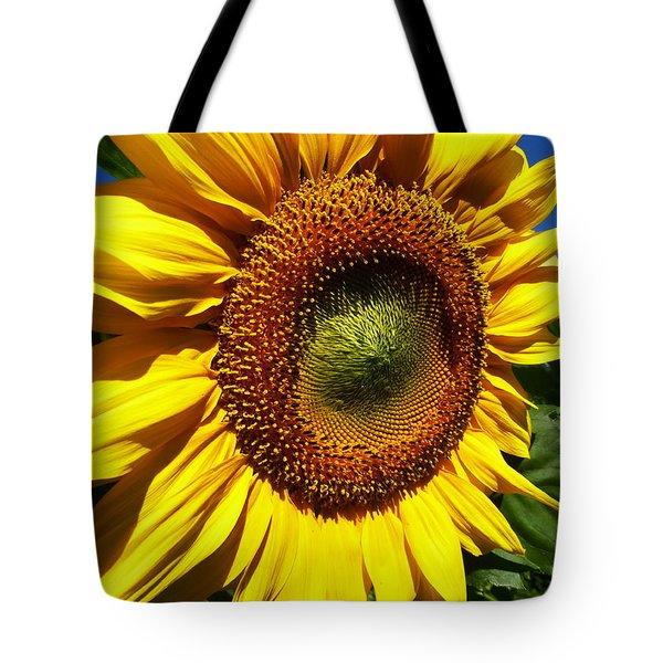 Huge Bright Yellow Sunflower Tote Bag