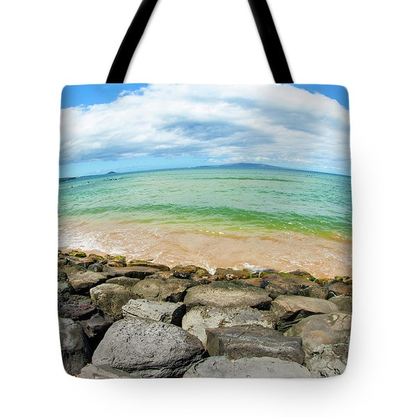 Tote Bag featuring the photograph Huge Wikiki Beach by Micah May
