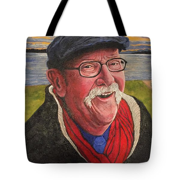 Tote Bag featuring the painting Hugh Hanson Davidson by Tom Roderick