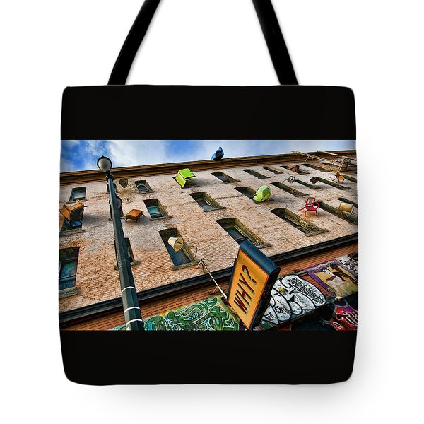 Tote Bag featuring the photograph Hugo Hotel  by Steve Siri
