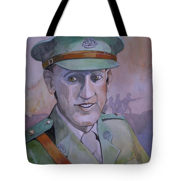 Tote Bag featuring the painting Hugo Throssel Vc by Ray Agius