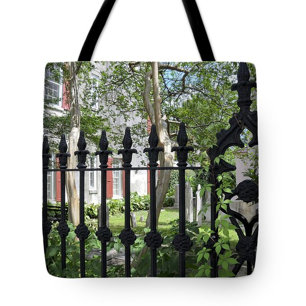 Tote Bag featuring the photograph Huguenot Church Cemetery by Gina Savage