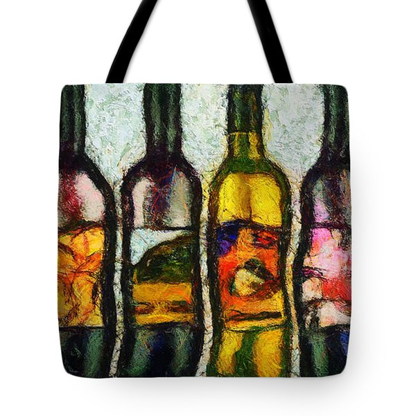 Tote Bag featuring the painting Huit Choix Abstraites by Sir Josef - Social Critic - ART
