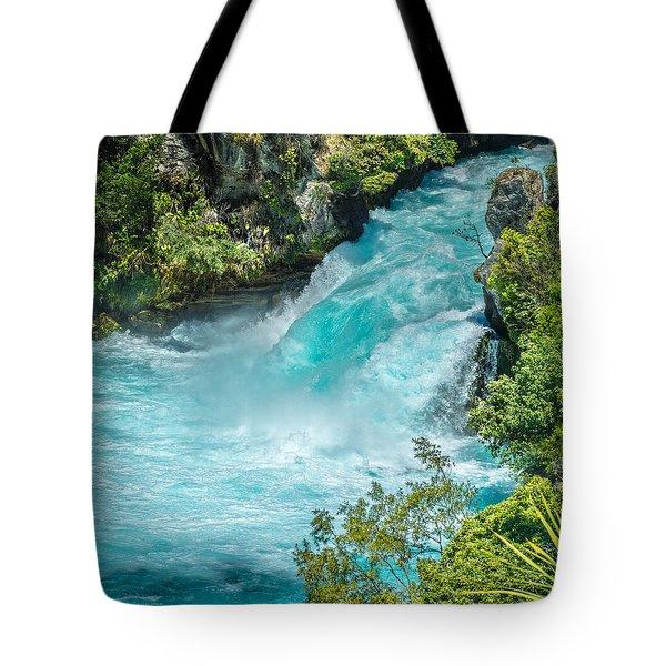 Huka Falls Tote Bag by Racheal Christian