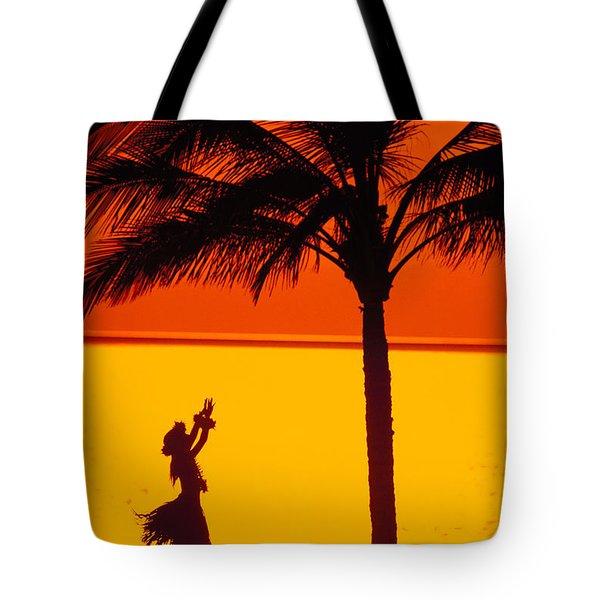 Hula At Sunset Tote Bag
