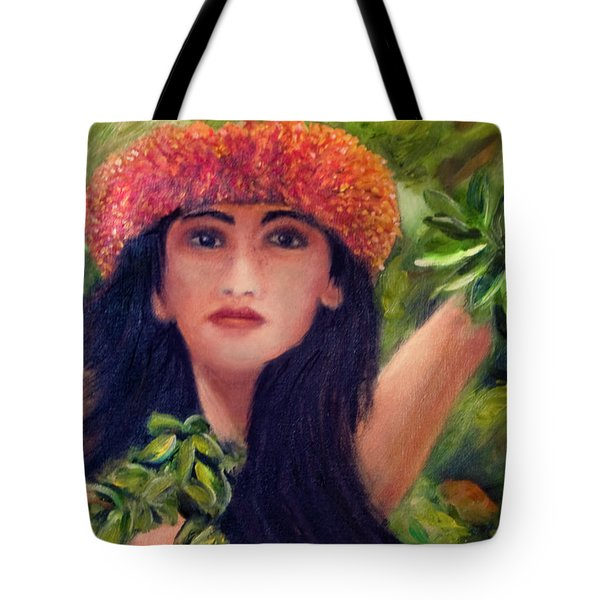 Hula Dancer Kahiko #422 Tote Bag by Donald k Hall