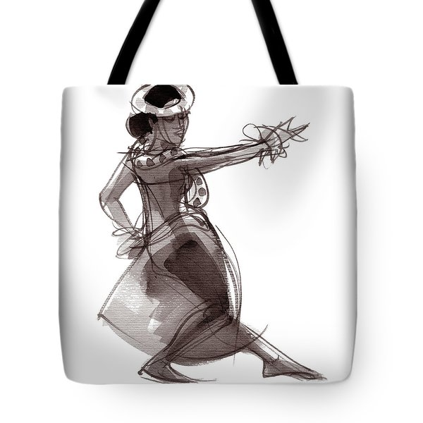 Tote Bag featuring the painting Hula Dancer Keala by Judith Kunzle
