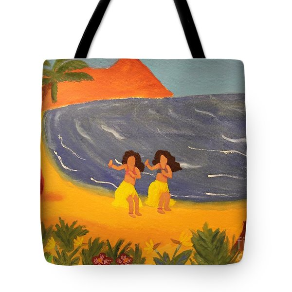 Hula Girls Tote Bag