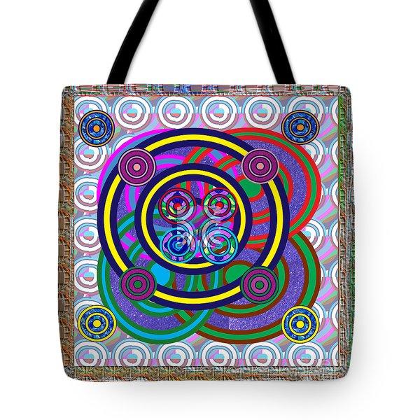 Hula Hoop Circles Tubes Girls Games Abstract Colorful Wallart Interior Decorations Artwork By Navinj Tote Bag