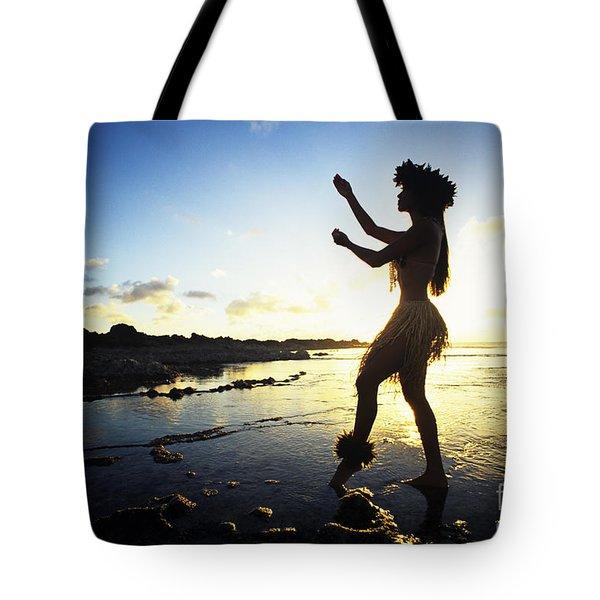 Hula Silhouette Tote Bag