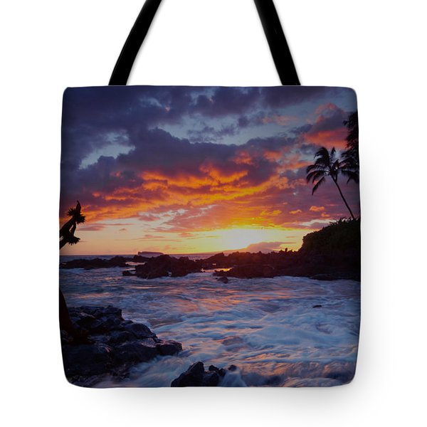 Hula Sunset Tote Bag