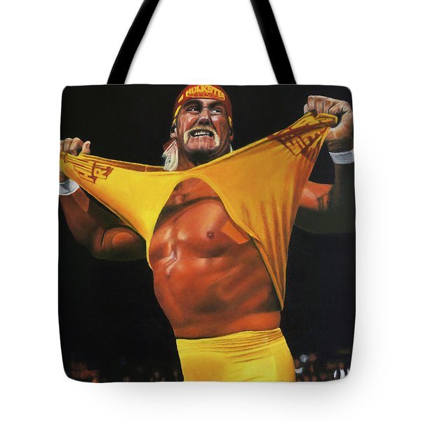 Hulk Hogan Oil On Canvas Tote Bag