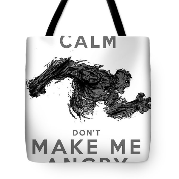 Hulk Keep Calm Tote Bag