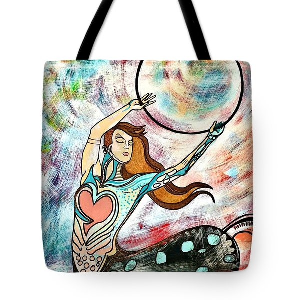 Tote Bag featuring the painting Hulla Hoop by Amy Sorrell
