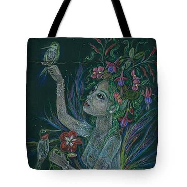 Tote Bag featuring the drawing Hum by Dawn Fairies