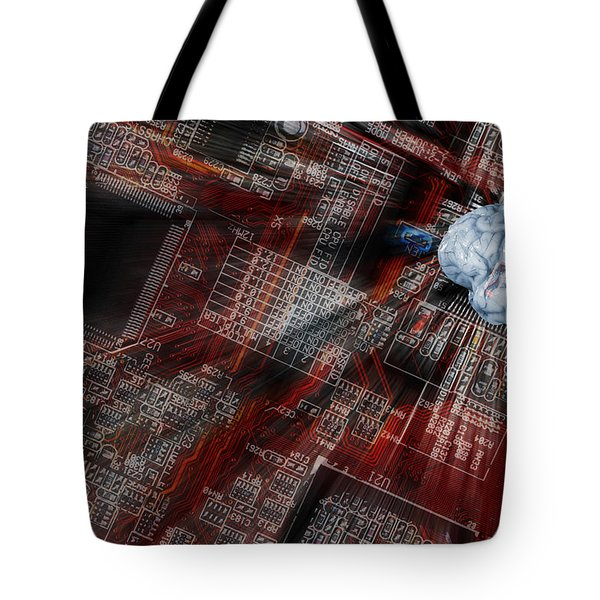 Human Brain, Intelligence And Communication Tote Bag