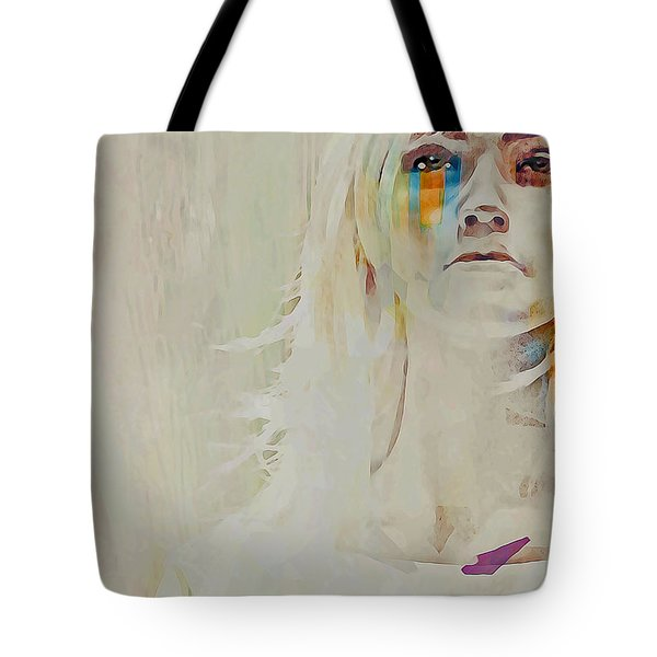 Tote Bag featuring the digital art Human by Galen Valle