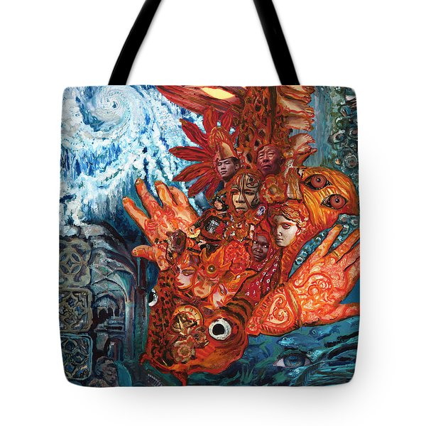 Humanity Fish Tote Bag by Emily McLaughlin