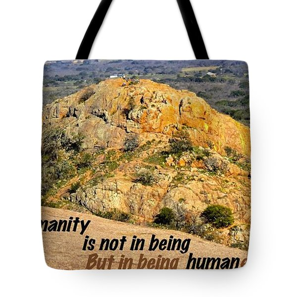 Humanity Reworked Tote Bag by David Norman