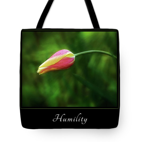 Tote Bag featuring the photograph Humility 1 by Mary Jo Allen