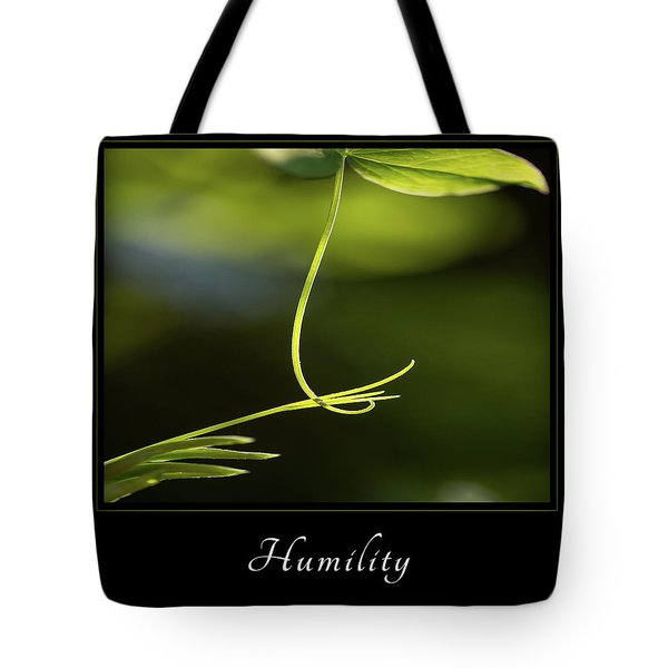 Tote Bag featuring the photograph Humility 2 by Mary Jo Allen