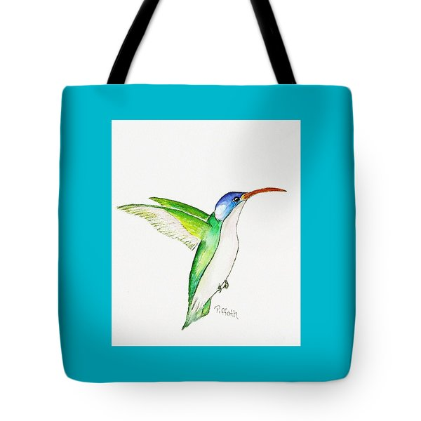 Tote Bag featuring the painting Hummer by Patricia Piffath